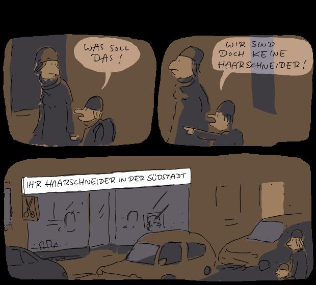 beleidigt